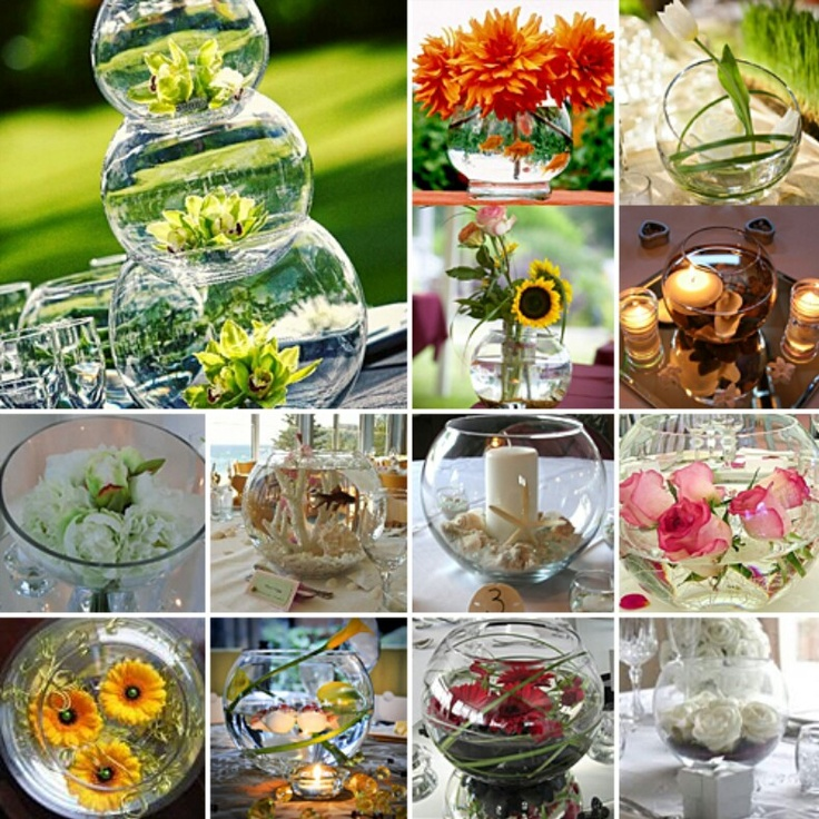 How To Decorate Fish Bowl: 17 Best Images About Bright Wedding Flowers On Pinterest