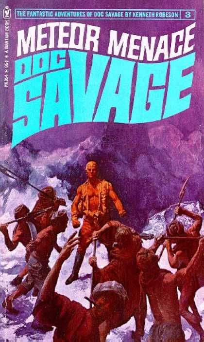 Doc Savage the Meteor Menace. This is the book I am currently reading,
