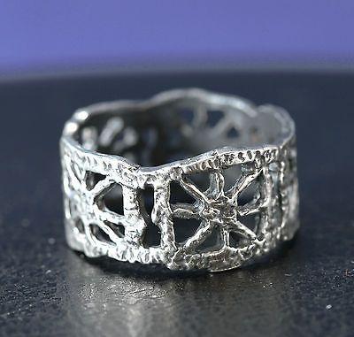 "Pentti Sarpaneva for Turun Hopea ~Vintage ""Pitsi"" (Lace) silver ring. | eBay.com"