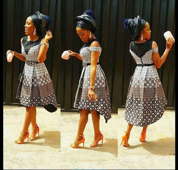 Ankara jurk Afrikaanse jurk Afrikaanse fashion door DEAFRICANSHOP