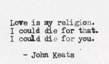 ~ John Keats #quote