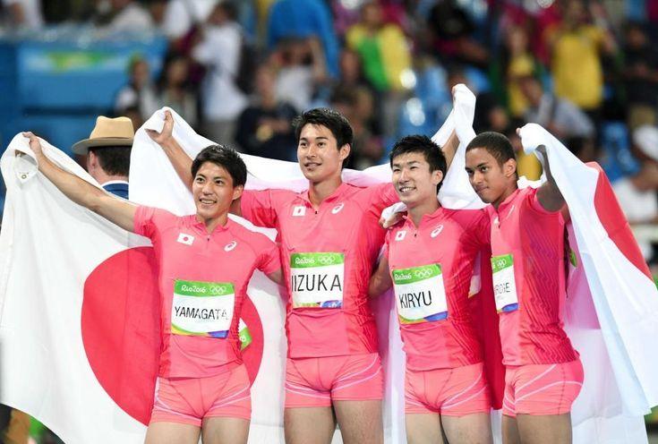 400mリレーで銀!史上最強の4人が世界に衝撃、またアジア新37秒60 #陸上 #リオ五輪