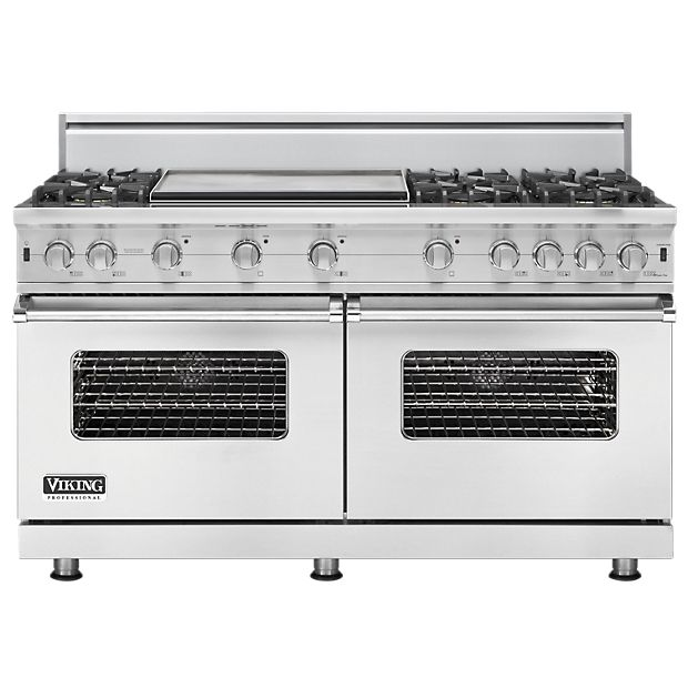 6 Burner, Double oven, Flat top grill, Viking Oven! Yes please!