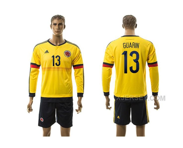 http://www.xjersey.com/201516-colombia-13-guarin-home-long-sleeve-jersey.html 2015-16 COLOMBIA 13 GUARIN HOME LONG SLEEVE JERSEY Only $35.00 , Free Shipping!