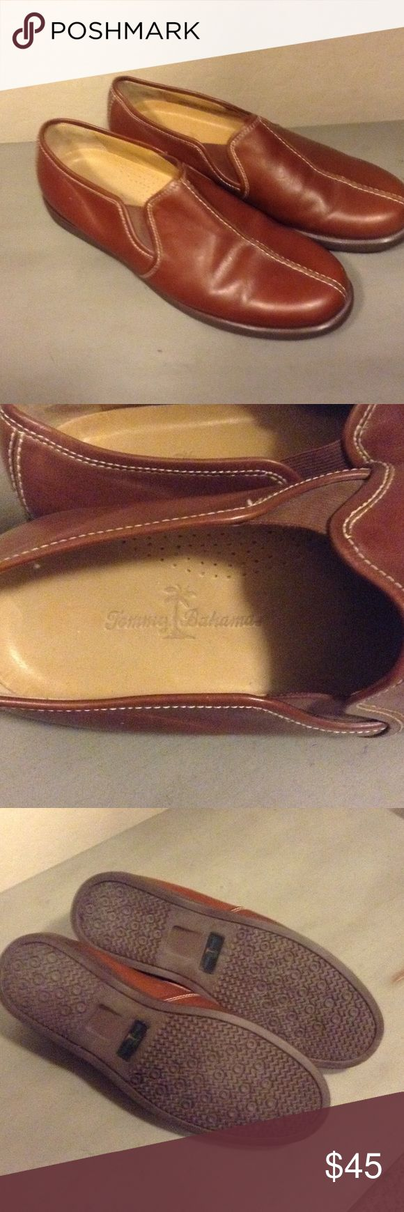 Russet Brown Tommy Bahama Slip-Ons Tommy Bahama Leather Slip-Ons. New, never worn, no box. Tommy Bahama Shoes Loafers & Slip-Ons