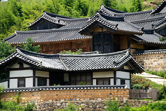 Yangdong Folk Village in Korea. Visit a traditional Korean village.