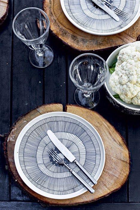 #Assiette #Siirtolapuutarha #marimekko #design #artdelatable #MaijaLouekar #noiretblanc #design #flatlay #diner #dejeuner