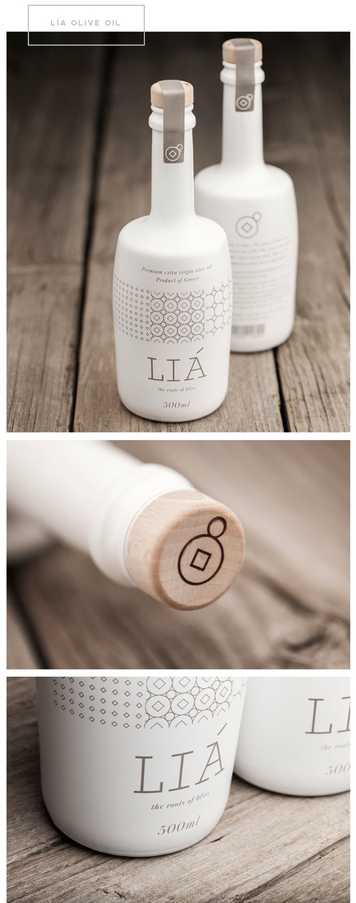 This is great example of presentation. I believe the circle dot symbol is something of a logo. It's shown on the illustration pattern and beveled into the cork. See how the wood cork is complemented with the wood surface in the background. Good consistency.