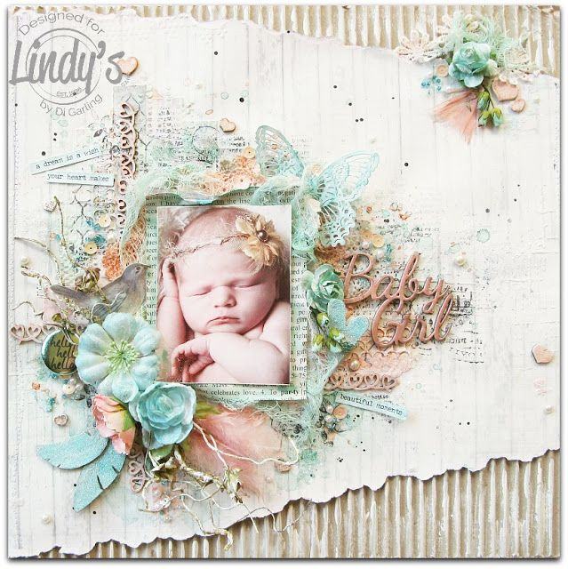 "My Lindy's Stamp Gang March DT Colour Challenge RevealANDMy More Than Words March DT RevealCOMBINED !!""Baby Girl"""
