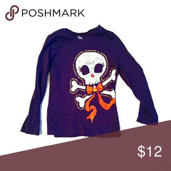 Children's Place Purple Long Sleeve Top Size 5. Children's Place Purple Long Sleeve Top with skull in front. Children's Place Shirts & Tops Tees - Long Sleeve