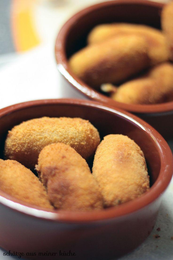 Spanische Tapas {Croquetas de jamon & andalusische Gazpacho} - Schätze aus meiner KücheSchätze aus meiner Küche