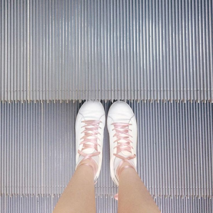 @happilyem  Pink ribbons // white sneakers