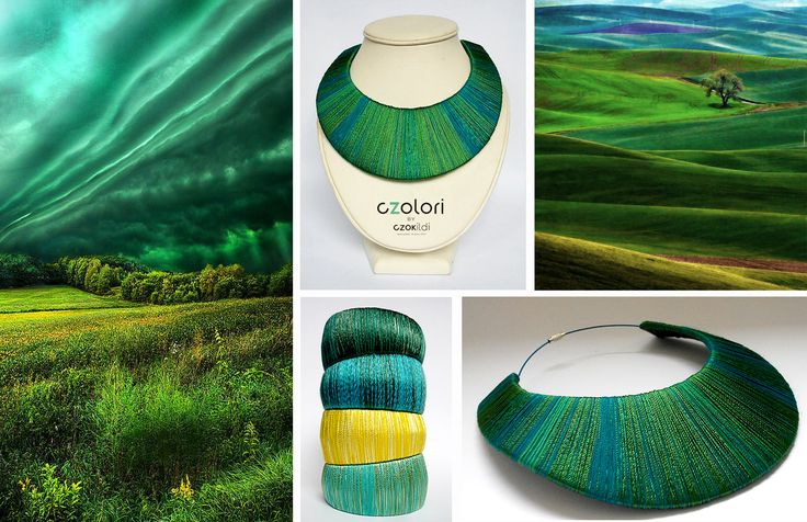 Nature inspired yarn jewellery by Czolori http://czokildihu.bigcartel.com/