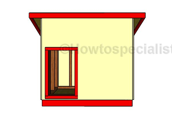 Large Dog House Plans - Front View