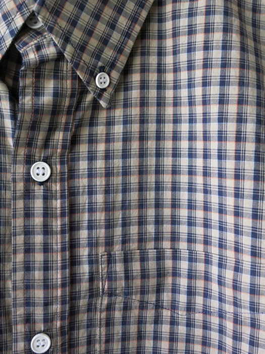 khaki/navy microplaid