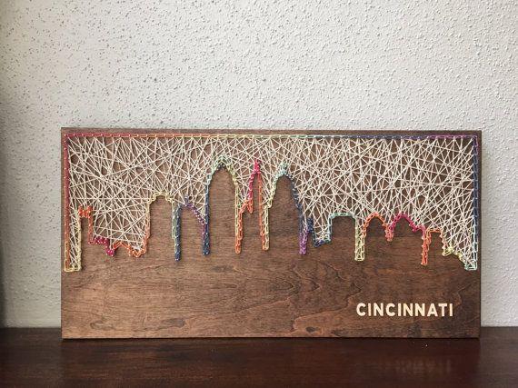 Cincinnati Skyline String Art Cincinnati Art Ohio Art
