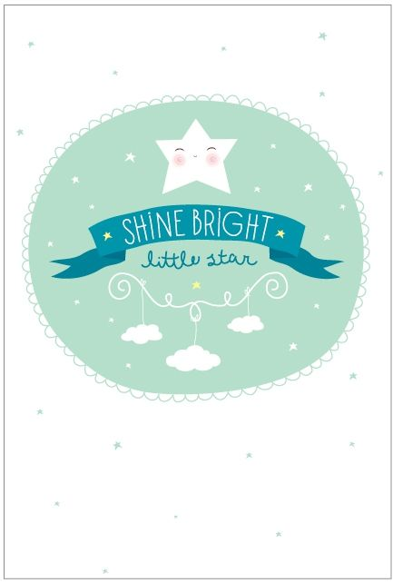 Poster Shine bright - Little Lovely Company