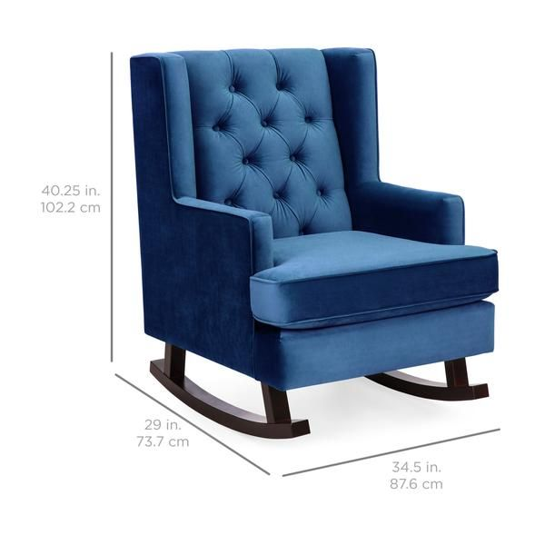 Tufted Upholstered Wingback Rocking Chair Wingback Rocking Chair