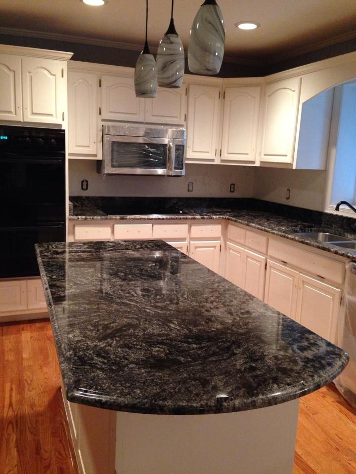 Grey Granite Countertops on Pinterest White granite kitchen, Gray ...