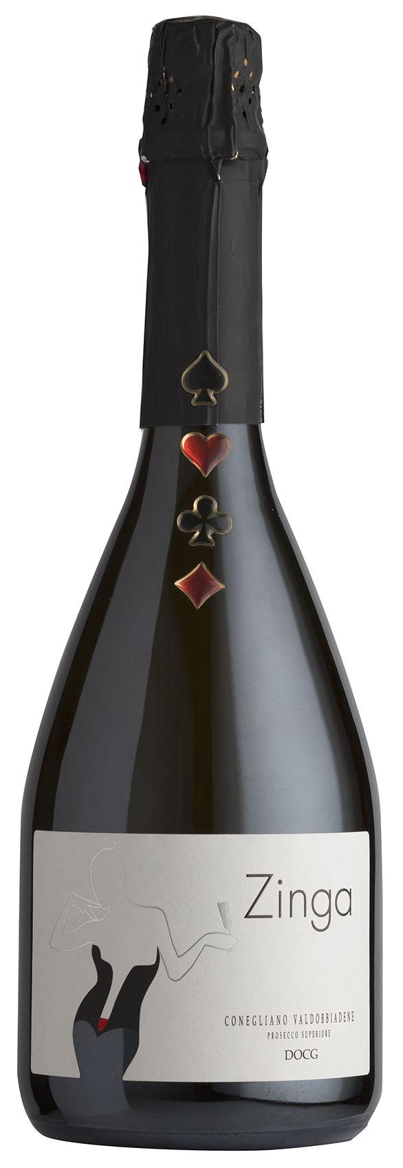 Conegliano Valdobbiadene Prosecco DOCG - Zinga #winelabel #winedesign #italianwine #Francescon #Collodi #francesconcollodi