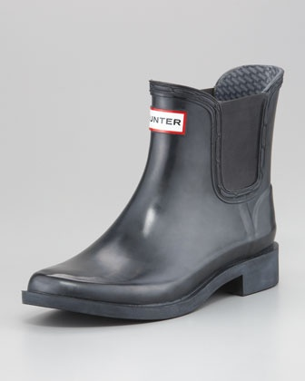 Bradwell Gored Ankle Rain Boot by Hunter Boot at Neiman Marcus.