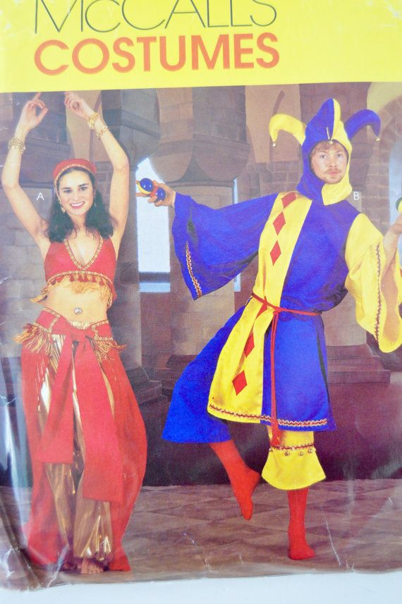 Belly Dancer & Jester Costumes  McCalls P242 / 2814 Pattern