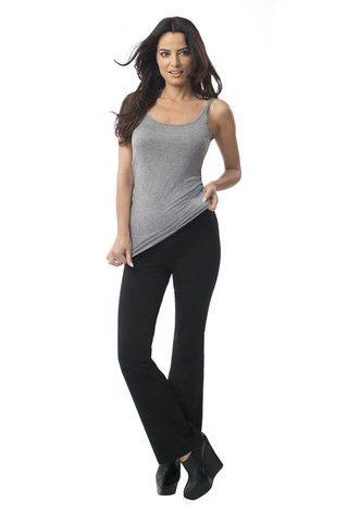 Svelte women's wide leg leggings black