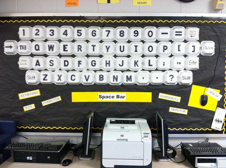 Styrofoam keyboard bulletin board