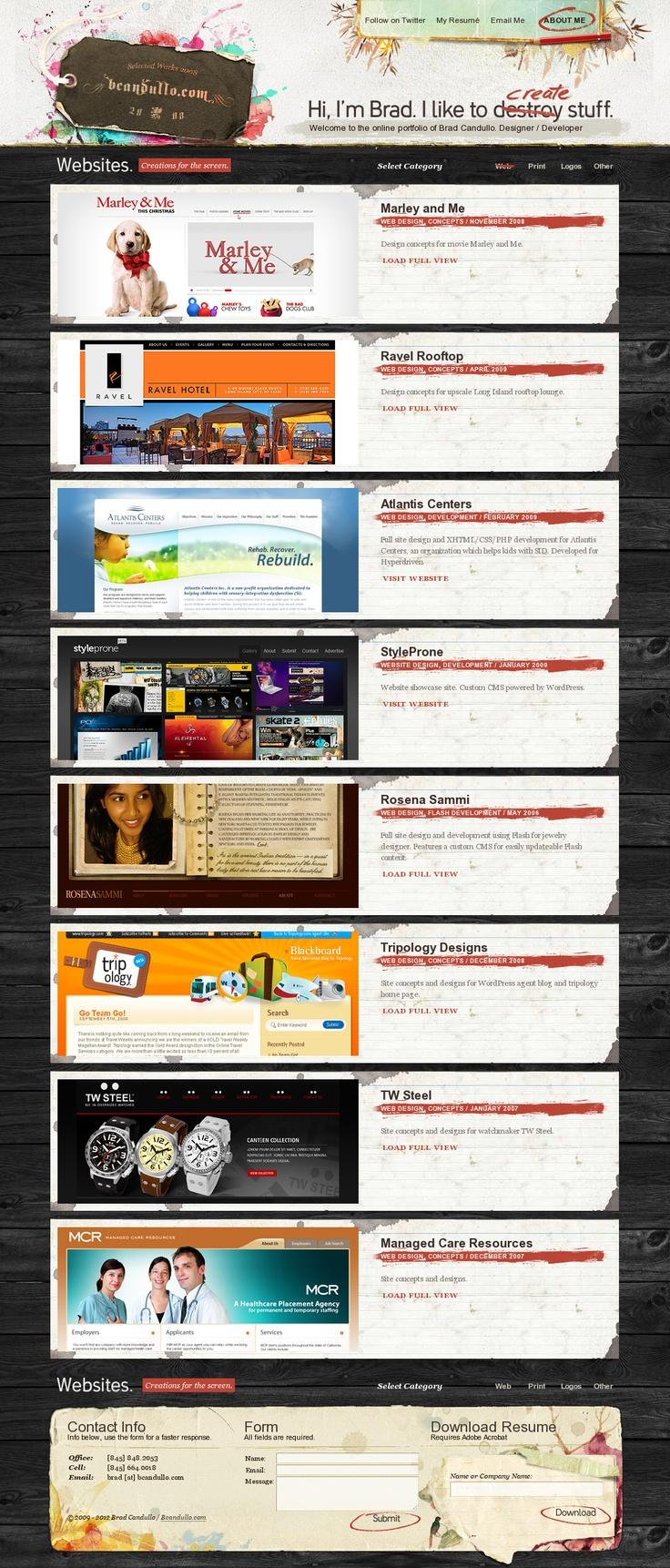 Layout photoshop web design website template tutorials tutorial 022 -  Portfolio Design Bcandullo