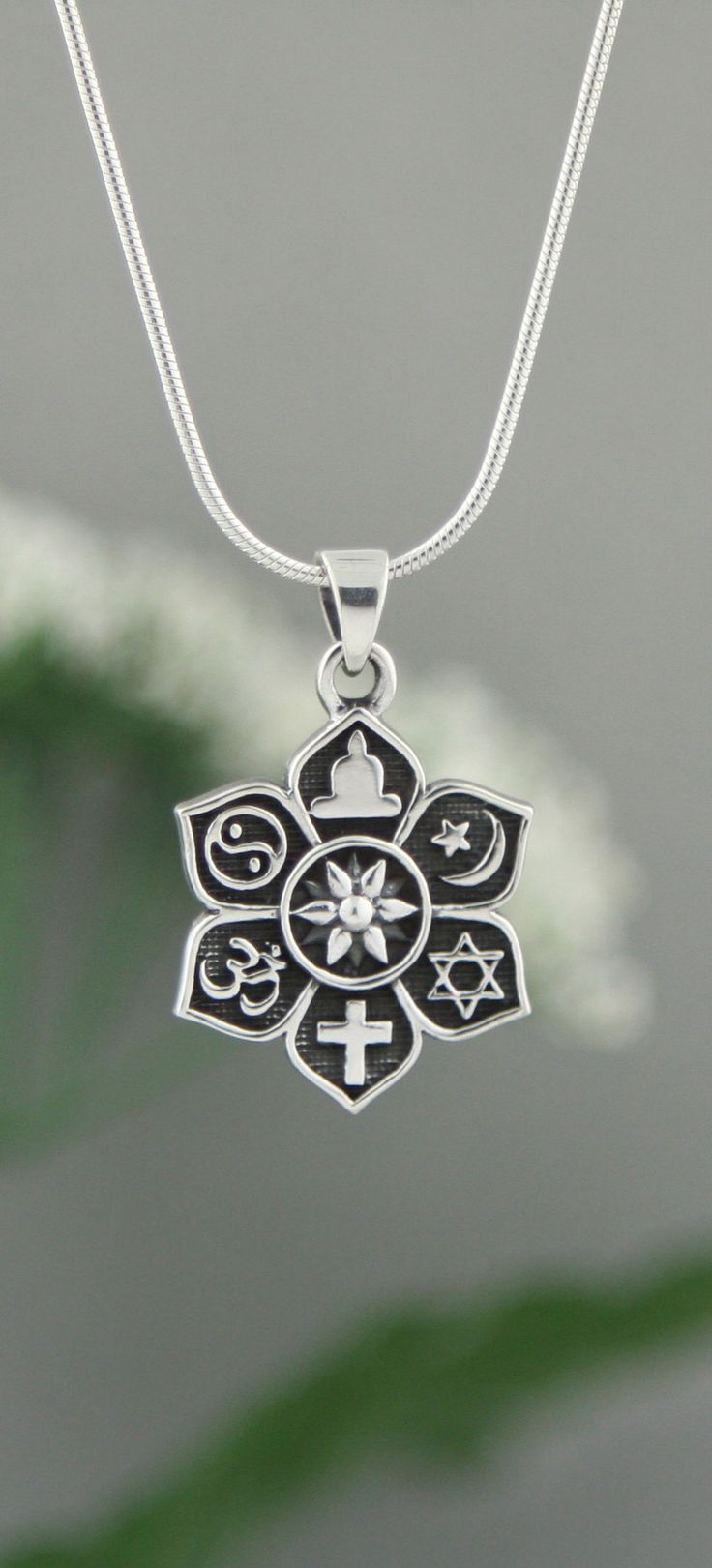 Sterling Silver Coexist Pendant