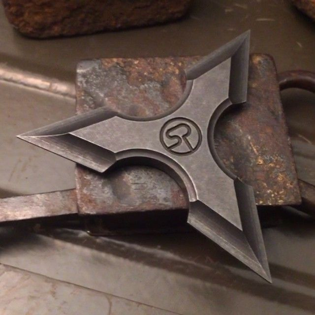 Custom Shuriken :) any interest? #sergeknives #shuriken #throwingstar