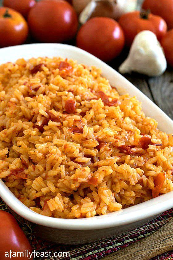 Portuguese Tomato Rice - also known as Arroz de Tomate.  A simple and delicious rice dish that is a favorite recipe from Portugal!