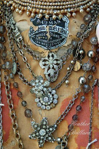 rhinestones love: Rhinestones, Gypsy Style, Antiques Jewelry, Jewelry Bracelets, Layered Necklaces, Gold Rings, Vintage Necklaces, Jewelry Rings, Hippie Fashion
