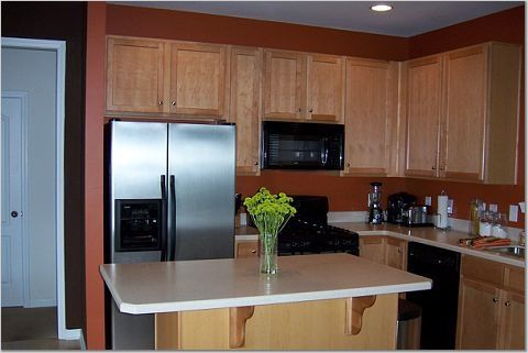 paint colors with medium oak cabinets | 2012 best kitchen paint colors with maple cabinets