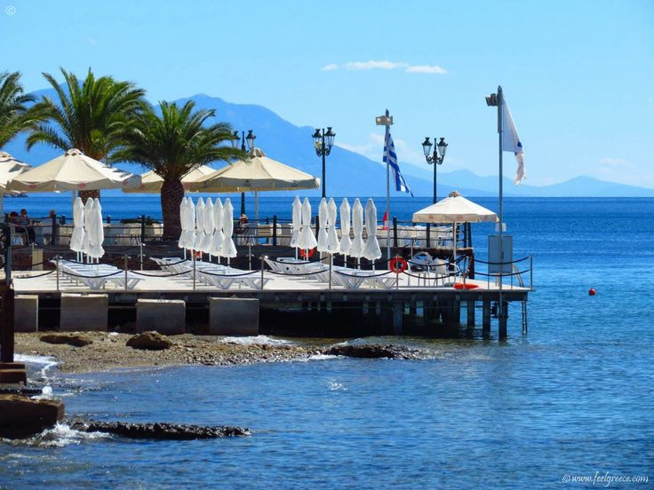 Loutra Edipsou, spa resort with hot mineral springs in Evia