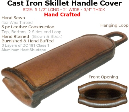 Leather Handle Mitt for Cast Iron