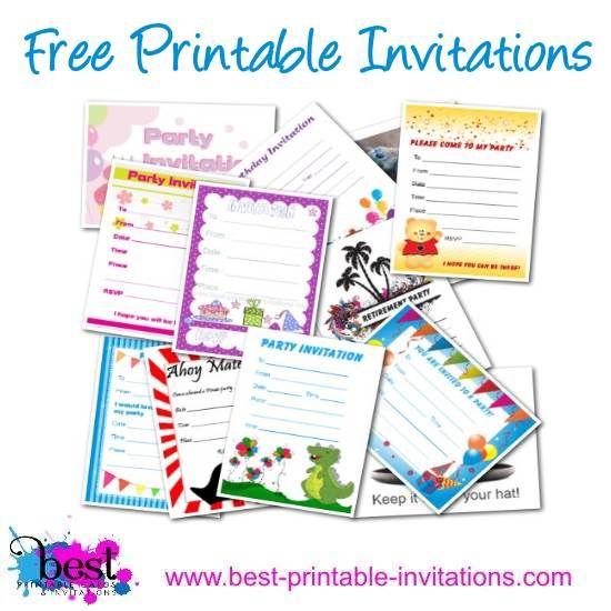 22 best Printable Invitations images on Pinterest   Printable ...