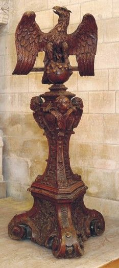 Lutrin, Église Notre-Dame-de-l'Assomption, Rue Jean-XXIII, Taverny, France