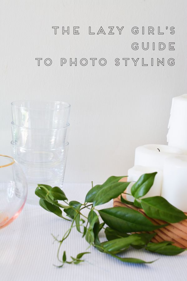 The Lazy Girl's Guide to Photo Styling. These tips are perfect for bloggers who are looking to take great photos but don't want to spend a lot of time doing it! Plus a few photoshop tricks to help make your stying (or lack of) look better!