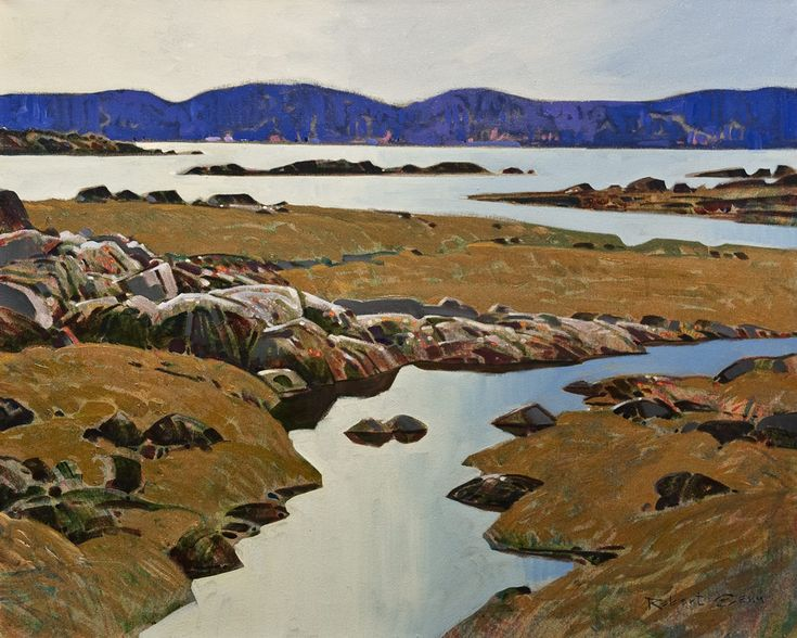Edge Pattern, Desolation Sound, by Robert Genn 24 x 30 - acrylic $12,000 Unframed