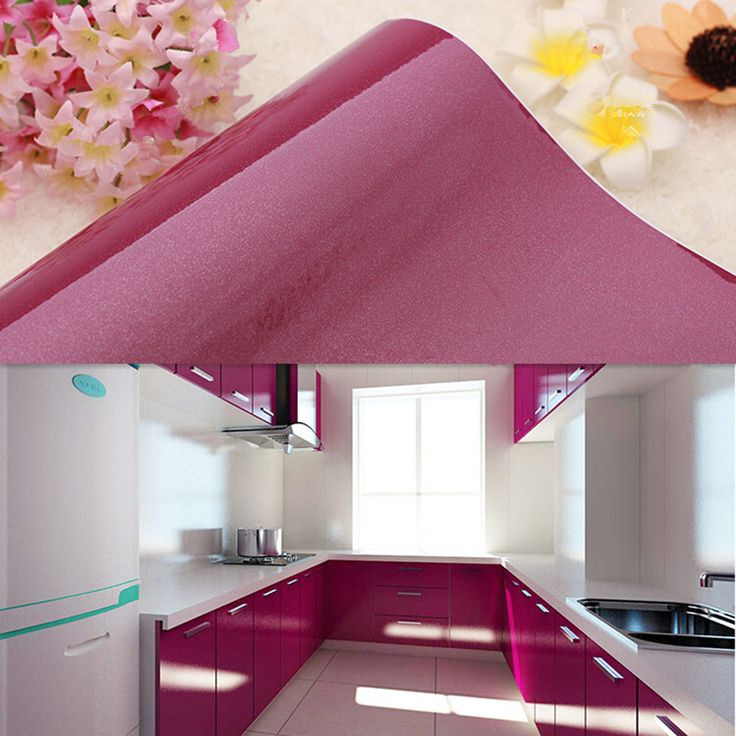 YAZI Purple Kitchen Cupboard Door Cover Wallpaper Adhesive Contact Paper 250cm