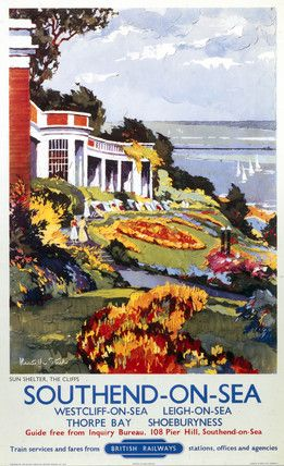 Southend on sea vintage Poster. went here today!
