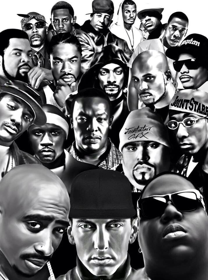 Rappers Hip hop artists, Hip hop art, Real hip hop
