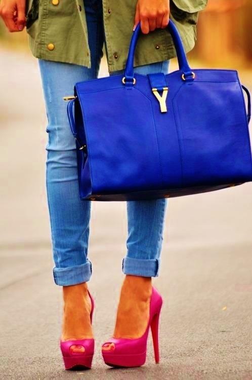 YSL Cobalt Blue Bag | Frost yourself | Pinterest | Blue Bags ...