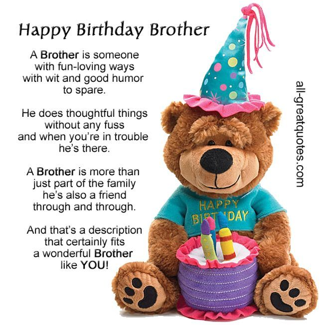 Happy Birthday Brother Wishes Greeting And Message Pictures Cards: