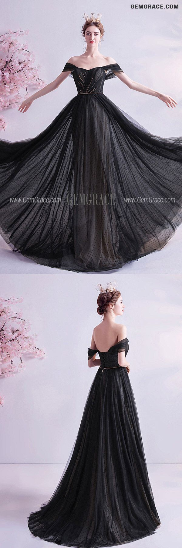 129 89 Formal Long Black Evening Prom Dress With Train Off Shoulder Wholesale T76068 Gemgrace Com In 2021 Prom Dress With Train Black Off Shoulder Dress Dresses [ 1800 x 600 Pixel ]