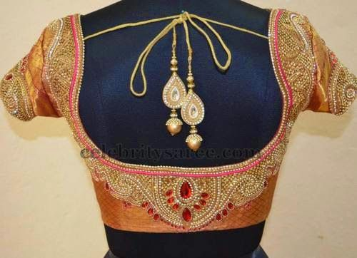Sequins Latest Blouses in Silk Fabric | Saree Blouse Patterns