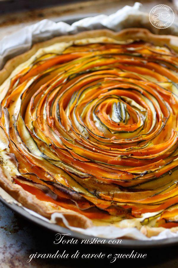 Torta-rustica con carote e zucchine