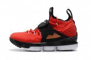 4031e246e562 Mens Nike Lebron 15 XV Red Black Gold Basketball Shoes   adidasbasketballshoes