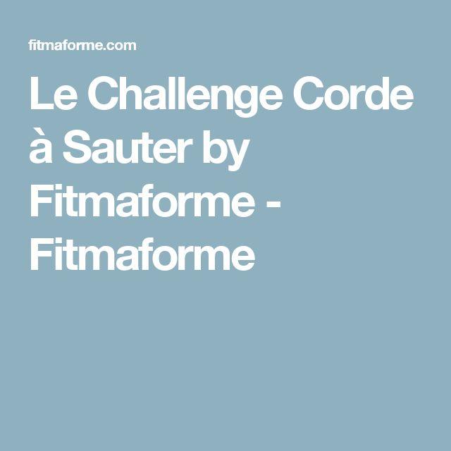 Le Challenge Corde à Sauter by Fitmaforme - Fitmaforme